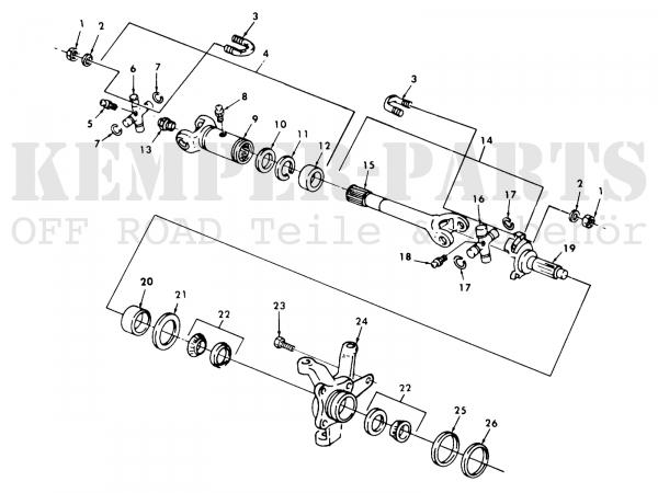 M151 Radlagerdichtring Kit - Standard