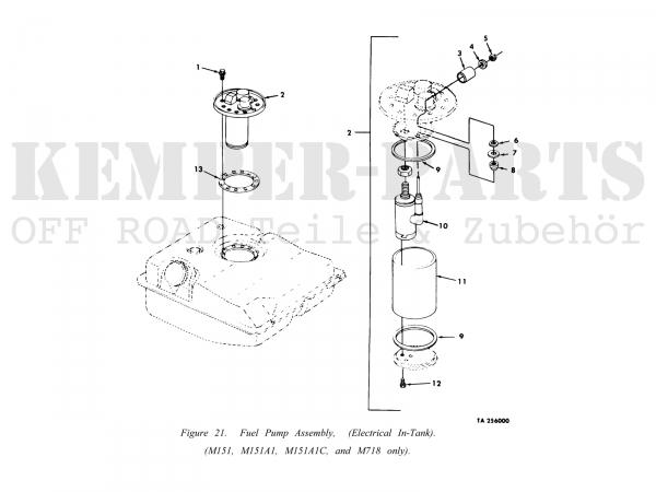 M151 A1 Gasket Fuel Tank