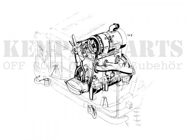 DKW MUNGA Motor 1000 ccm