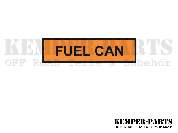 Mil. Sticker Fuel Can
