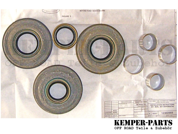 M151 Seal and Sleeve Kit Differential