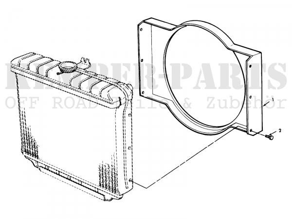 M151 Kühlerblech Rahmen