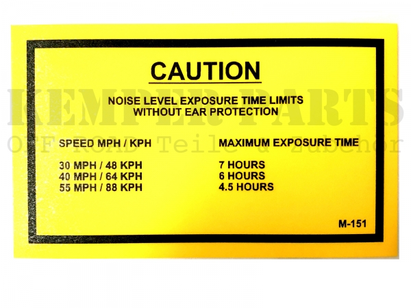 M151 Aufkleber - Caution Noise Level