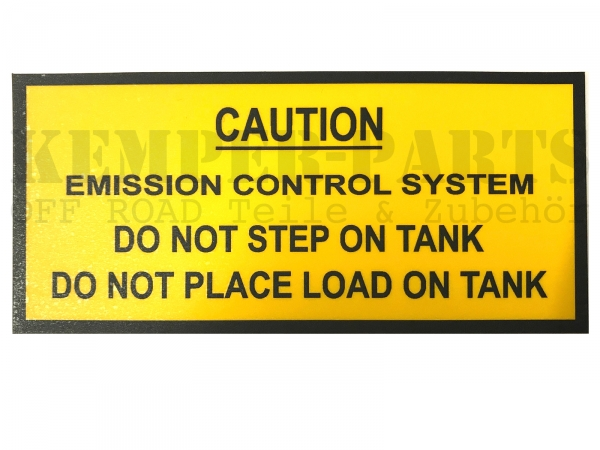 M151 Aufkleber - Caution Emission Control System