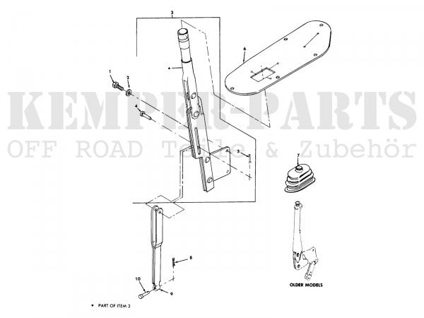 M151 Hand Brake Handle Link