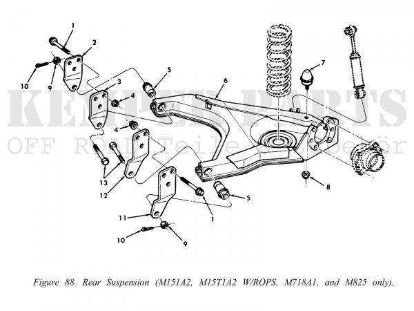 M151 Querlenker hinten rechts