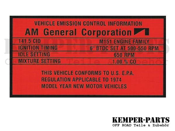 M151 Aufkleber AM General Corp.