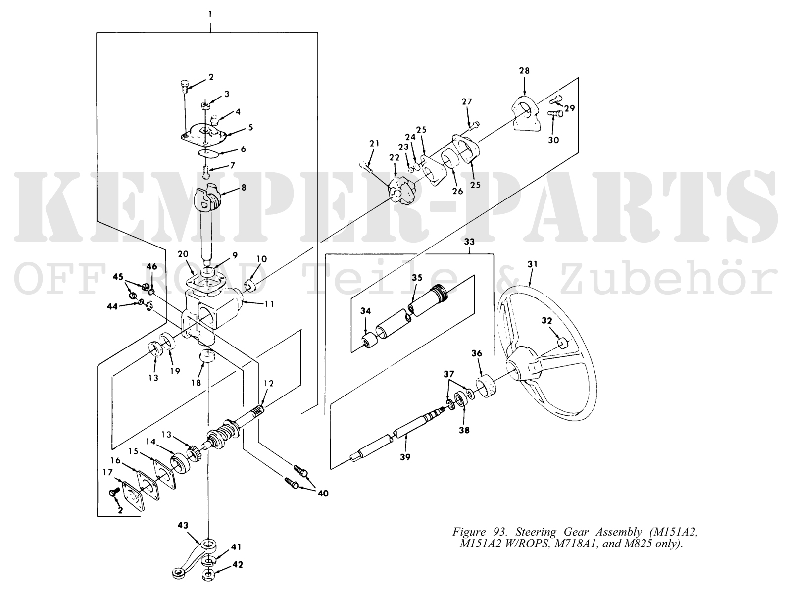 M151a2 Diagramsa Wire Diagrams M151a1 Wiring Diagram Ford Mutt M151 A2 Steering Gear Kemper Parts 25