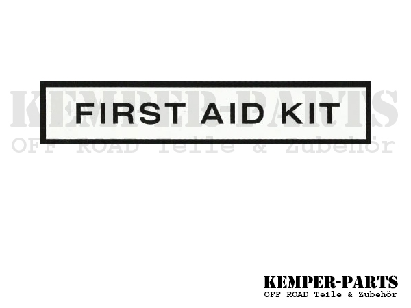 M151 Aufkleber First Aid Kit