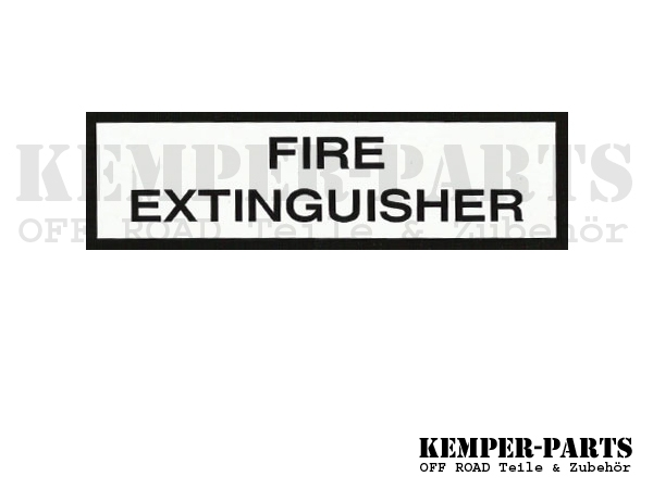 Mil. Sticker Fire Extinguisher