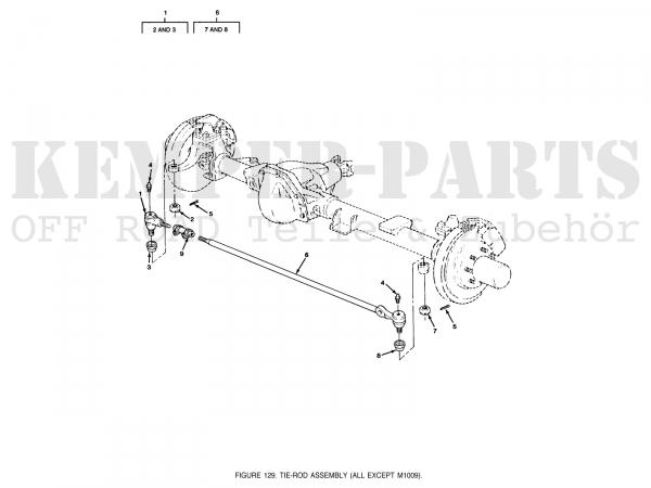 Chevrolet K30 Steering Tie Rod End