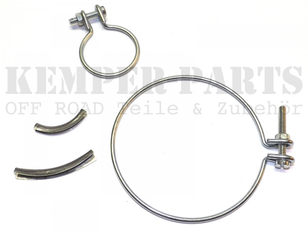 DKW MUNGA Clamp Ring Set Rubber Boot Gear Side